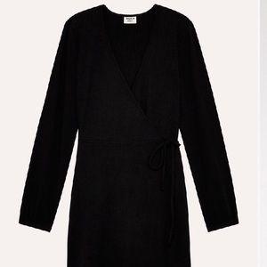 Aritzia Sunday Best wrap dress in black